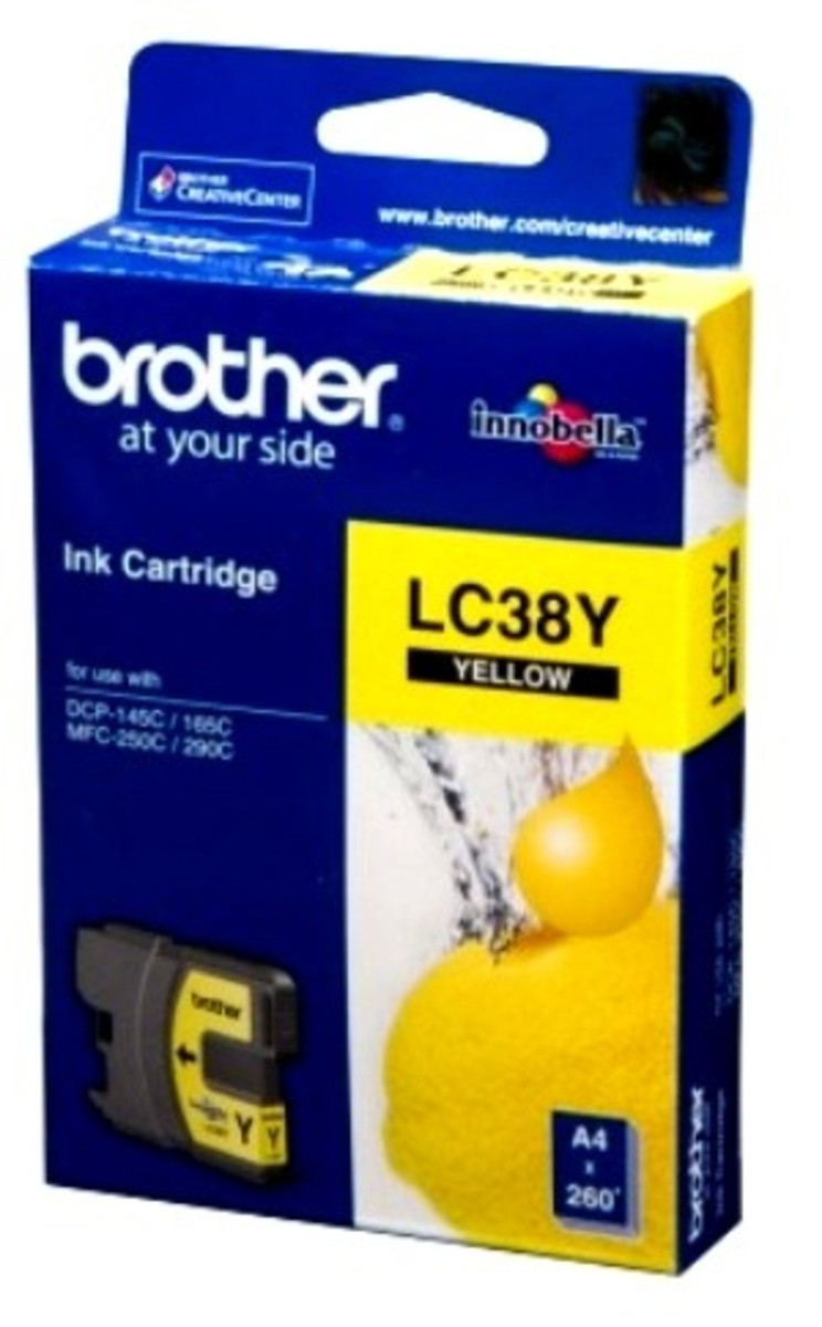 Brother LC-38Y Yellow Ink Cartridge