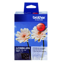 Brother LC-39BK Black Ink Cartridges - Twin Pack