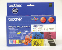 Brother LC-57 Photo Value Pack Ink Cartridges