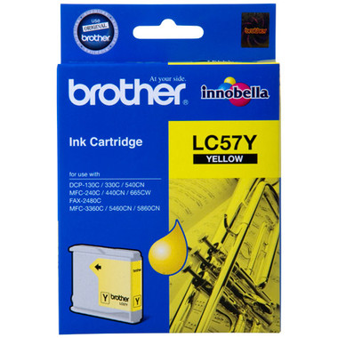 Brother LC-57Y Yellow Ink Cartridge