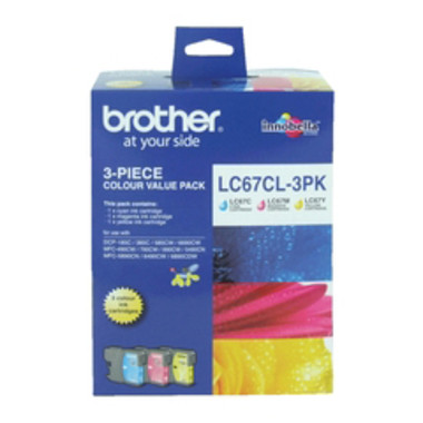 Brother LC-67CL Colour Ink Cartridges - Multi Pack