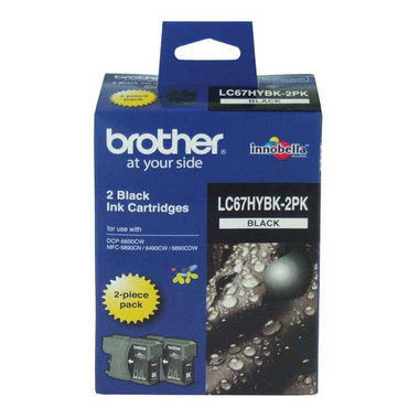 Brother LC-67HY Black Ink Cartridge - Multi Pack