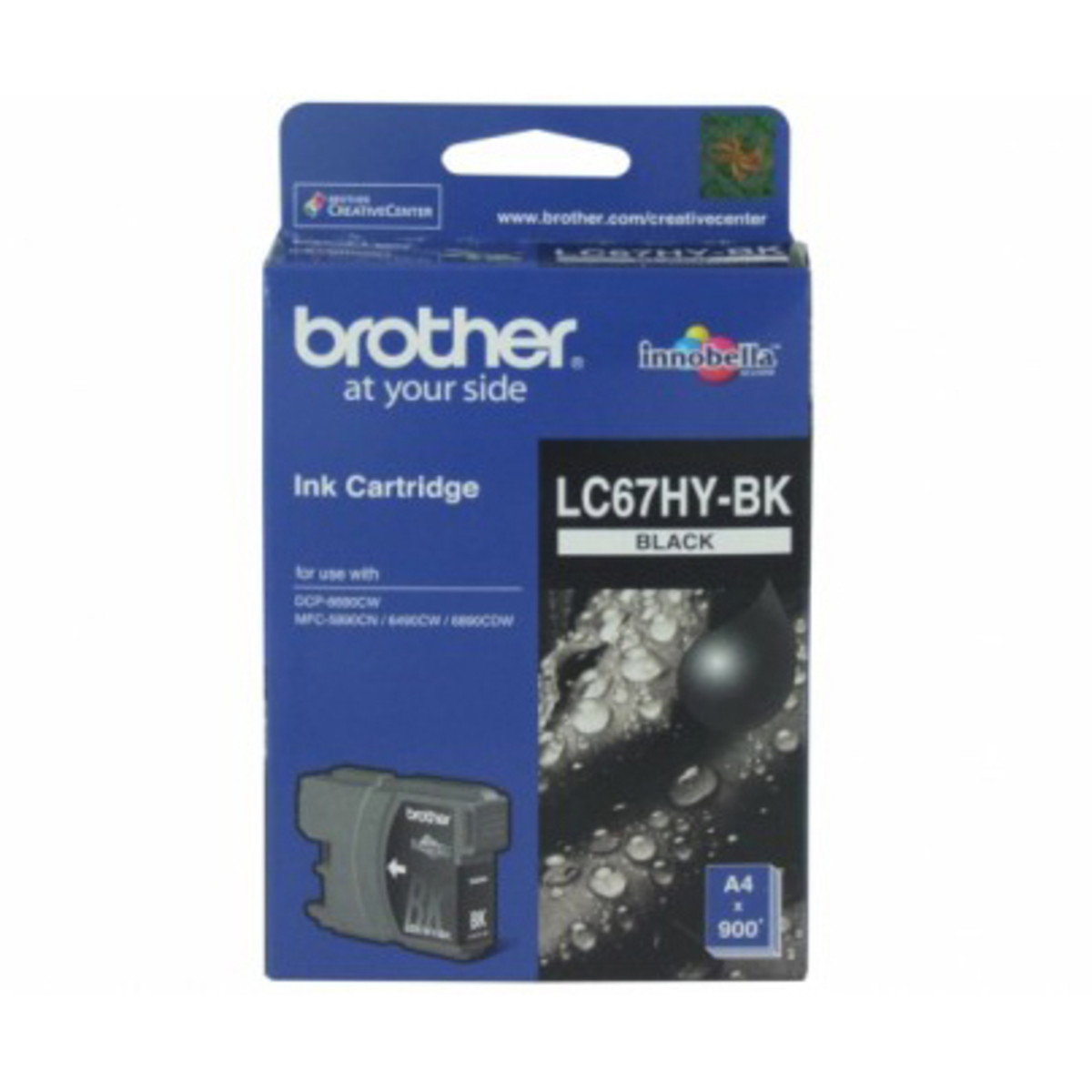 Brother LC-67HY Black Ink Cartridge - High Yield