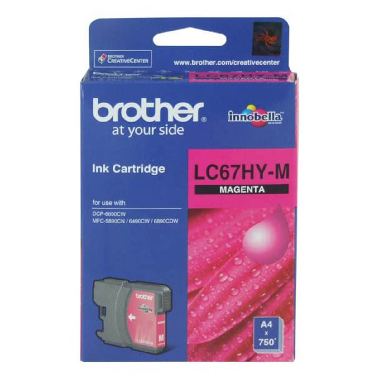 Brother LC-67HY Magenta Ink Cartridge - High Yield