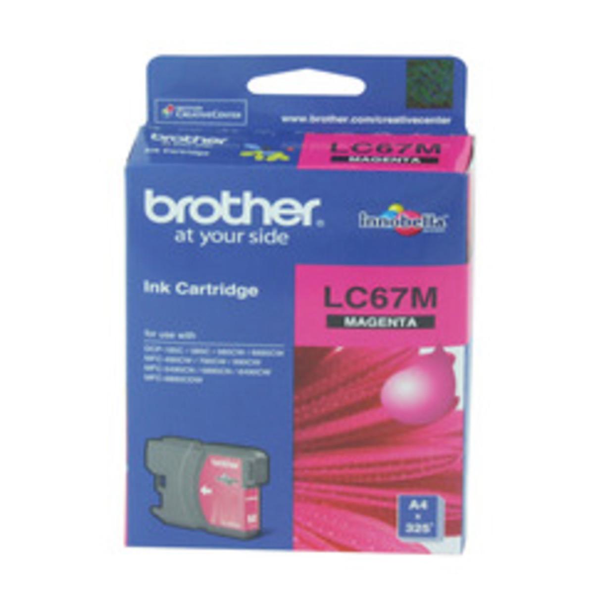 Brother LC-67M Magenta Ink Cartridge