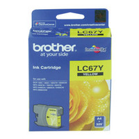 Brother LC67 Yellow Ink Cartridge (Original)