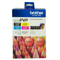 Brother LC-73 Photo Value Pack Ink Cartridges
