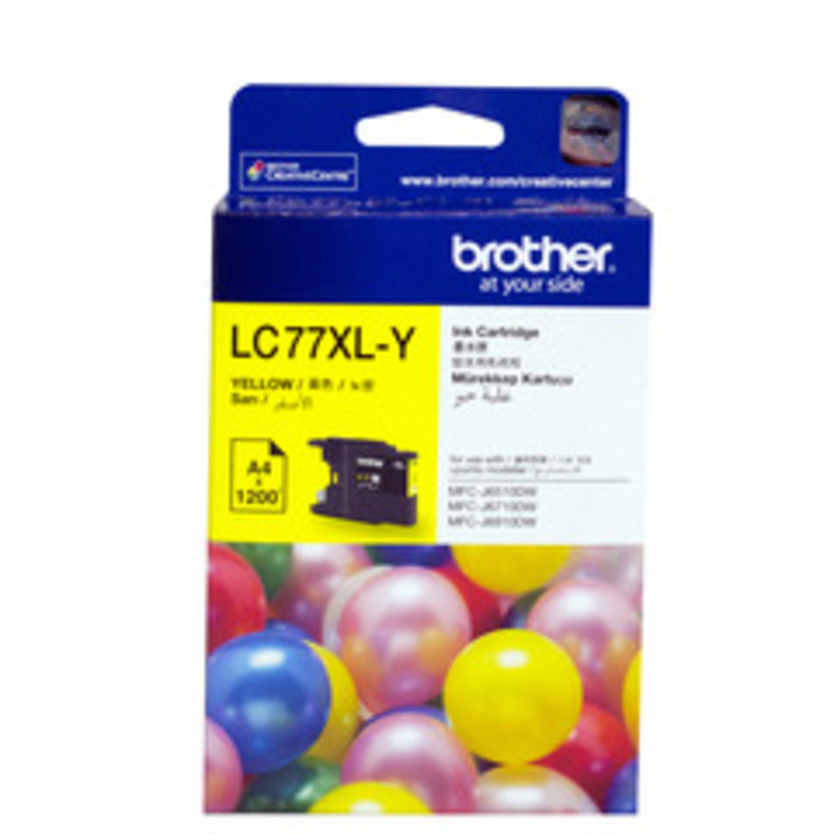 Brother LC-77XL Yellow Ink Cartridge - High Yield