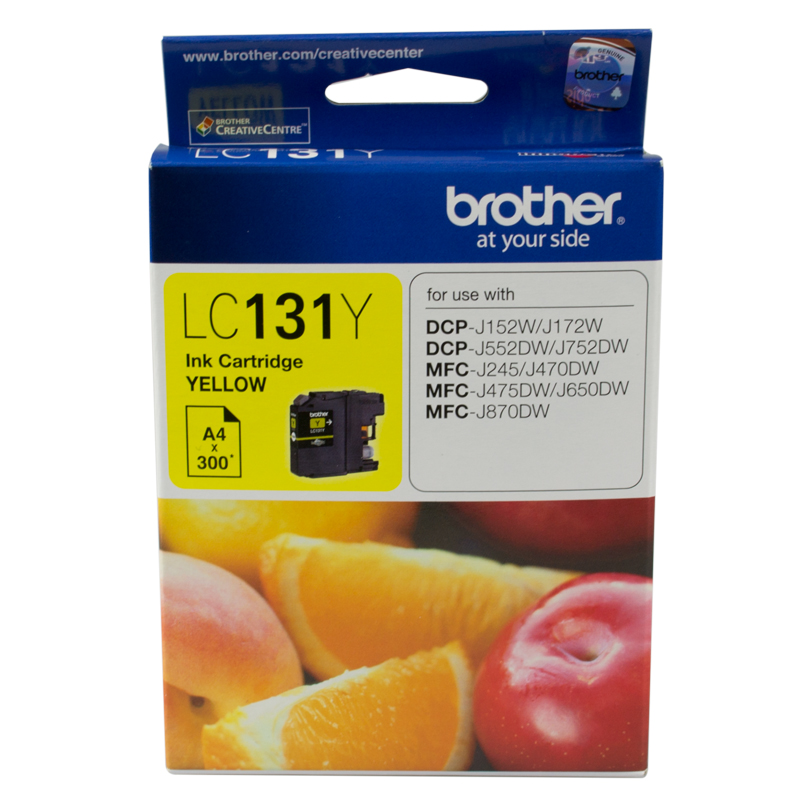 Brother LC131 Yellow Ink Cartridge (Original)