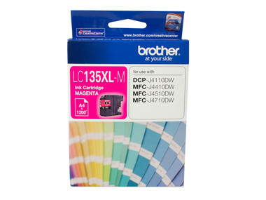 Brother LC135XL Magenta Ink Cartridge - High Yield