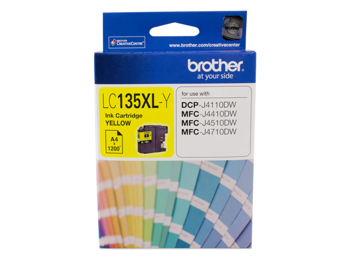 Brother LC135XL Yellow Ink Cartridge - High Yield
