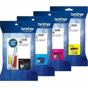 Brother LC3339XL Ink Cartridge Value Pack - Includes: [1 x Black, Cyan, Magenta, Yellow]
