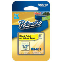 Brother MK631 Labelling Tape - Black on Yellow M Tape 12mm