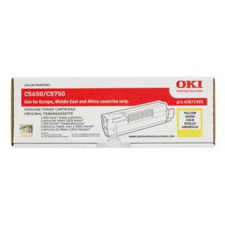 OKI C5650 Yellow Toner Cartridge (Original)