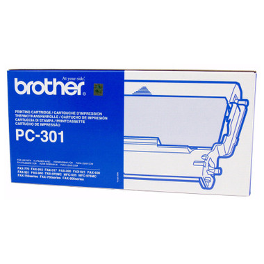 Brother PC-301 Printer Cartridge + 1 roll