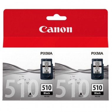 Canon PG-510 Black Ink Cartridge - Twin Pack