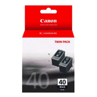 Canon PG-40 Black Ink Cartridges - Twin Pack