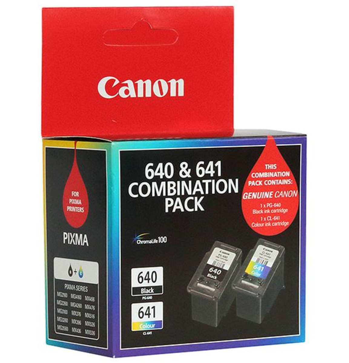 Canon PG640 and CL641 Black And Colour Ink Cartridge Twin Pack
