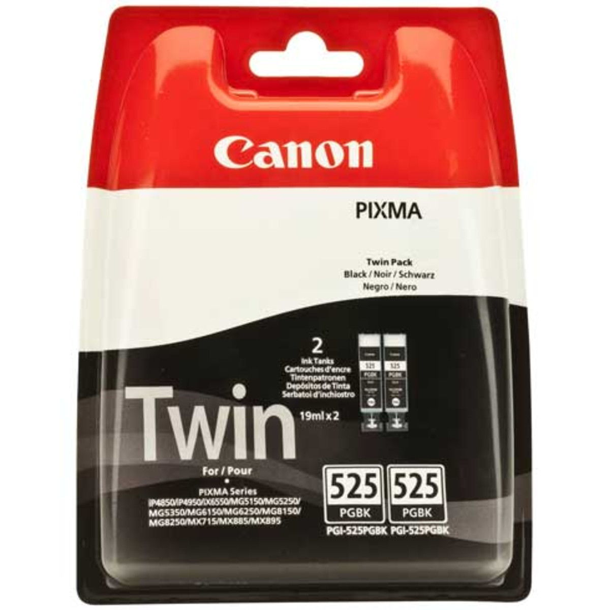 Canon PGI-525BK Black Ink Cartridges - Twin Pack