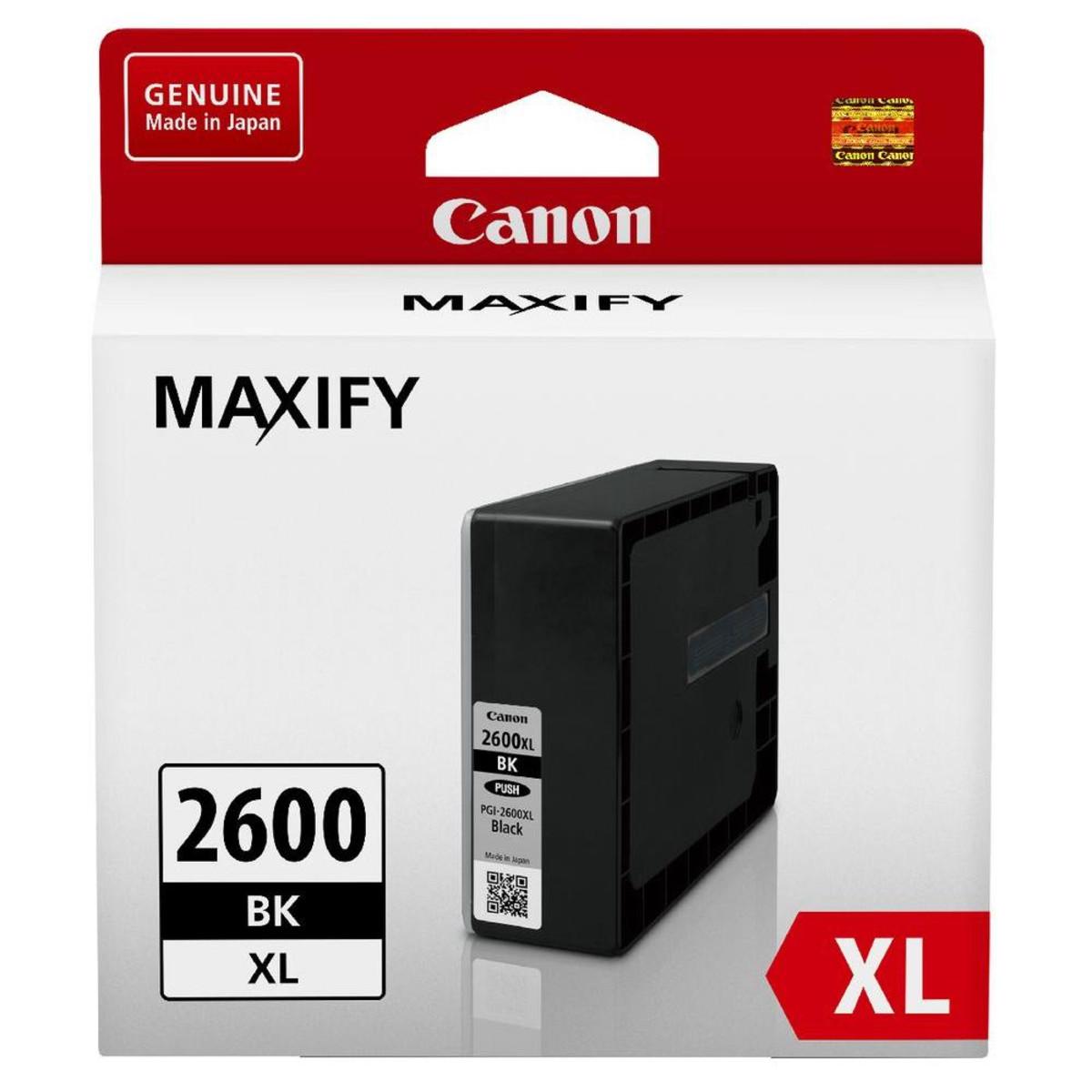 Canon PGI-2600XL Black Ink Cartridge - High Yield