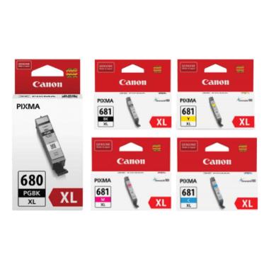 Canon PGI680XL,CLI681XL Ink Cartridge Value Pack - Includes: [2 x Black, 1 x Cyan, Magenta, Yellow]