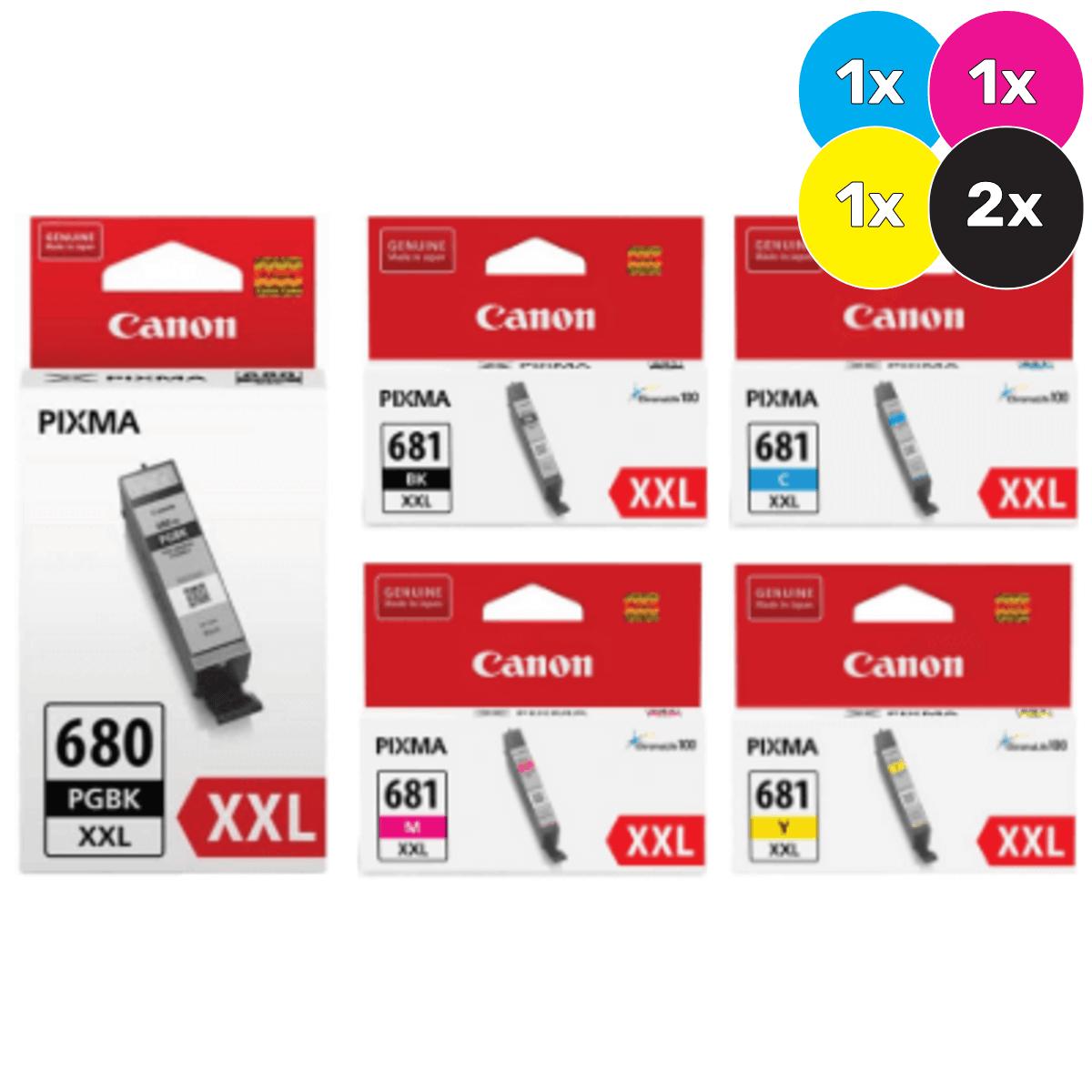 Canon PGI680XXL,CLI681XXL Ink Cartridge Value Pack - Includes: [2 x Black, 1 x Cyan, Magenta, Yellow]