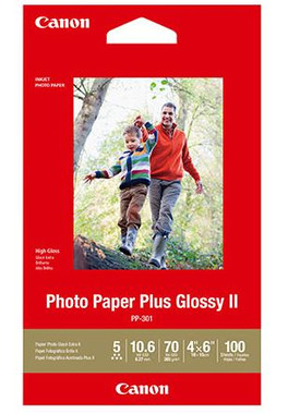 """Canon Photo Paper Plus Glossy II 6"""" x 4"""" 100 Sheets 260gsm"""