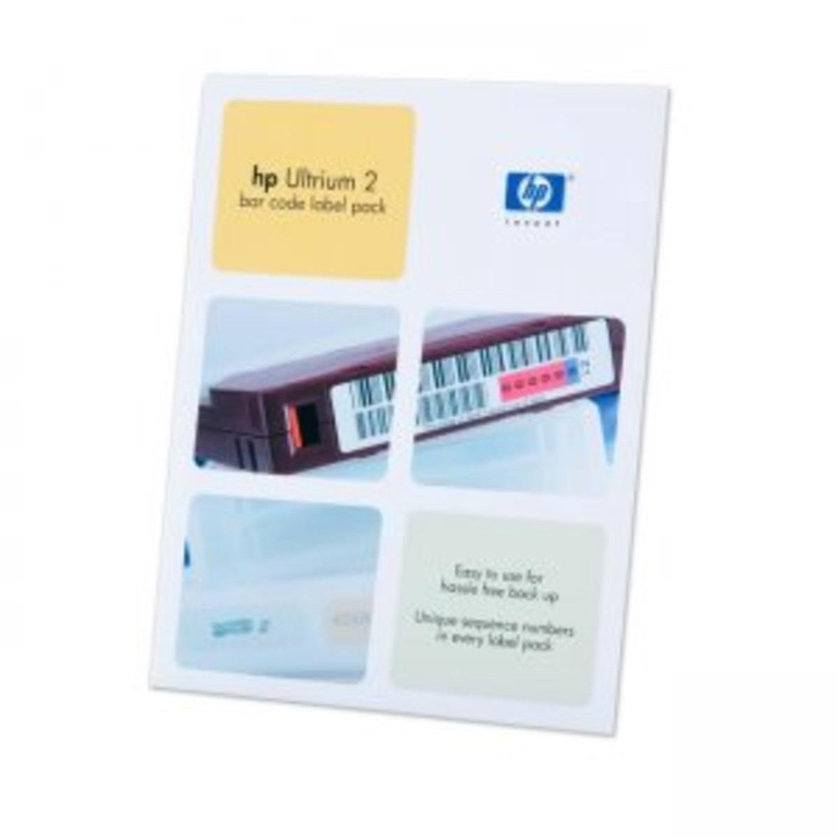 HP LTO2 Ulrium bar code label pack