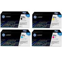 HP 311A,308A Toner Cartridges Value Pack - Includes: [1 x Black, Cyan, Magenta, Yellow]