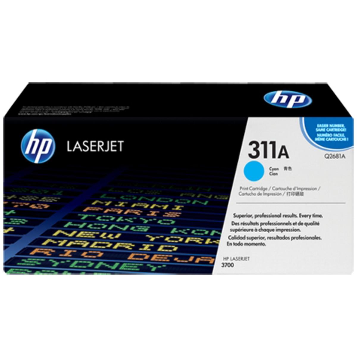 HP 311A (Q2681A) Cyan Toner Cartridge