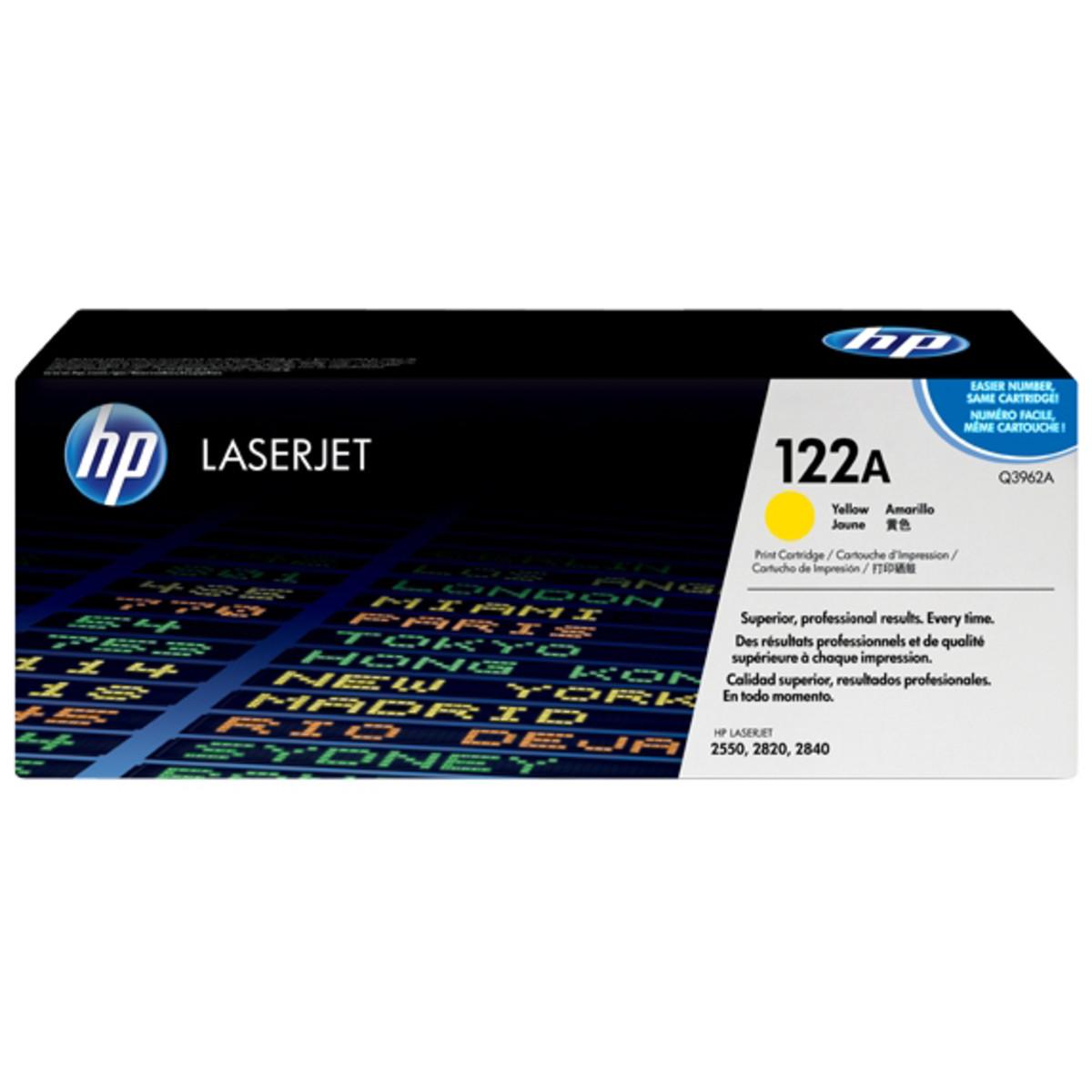 HP 122A (Q3962A) Yellow Toner Cartridge - High Yield
