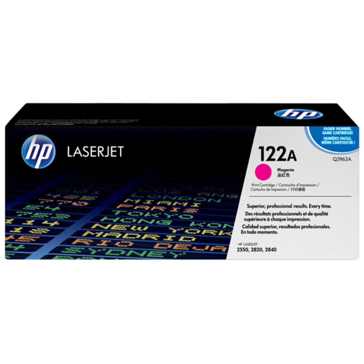 HP 122A (Q3963A) Magenta Toner Cartridge - High Yield