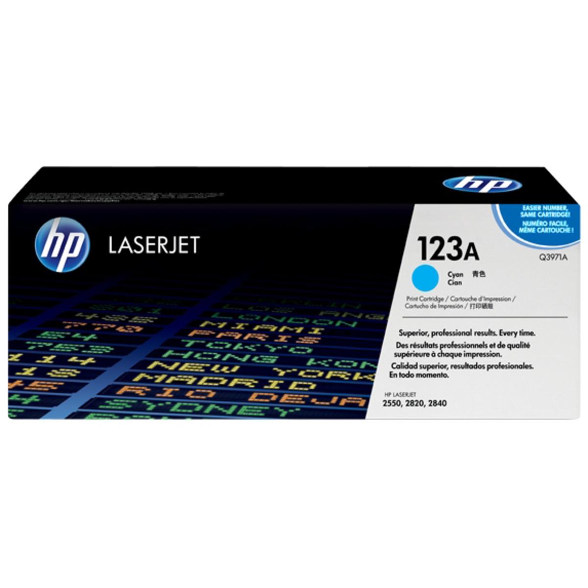 HP 123A (Q3971A) Cyan Toner Cartridge