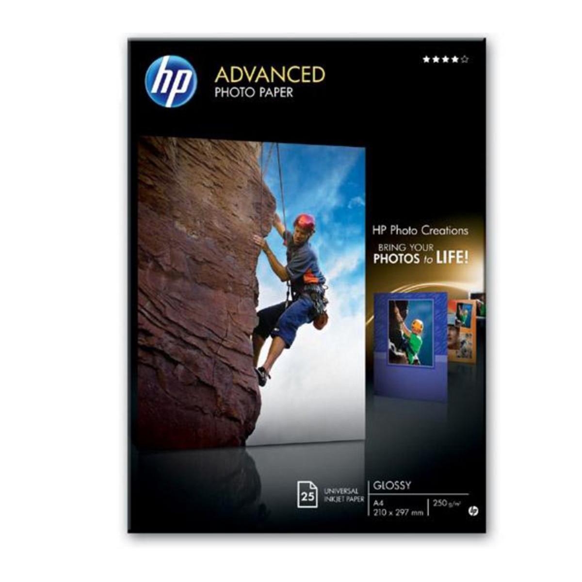 HP Advanced Gloss Photo Paper 25 Sheets A4
