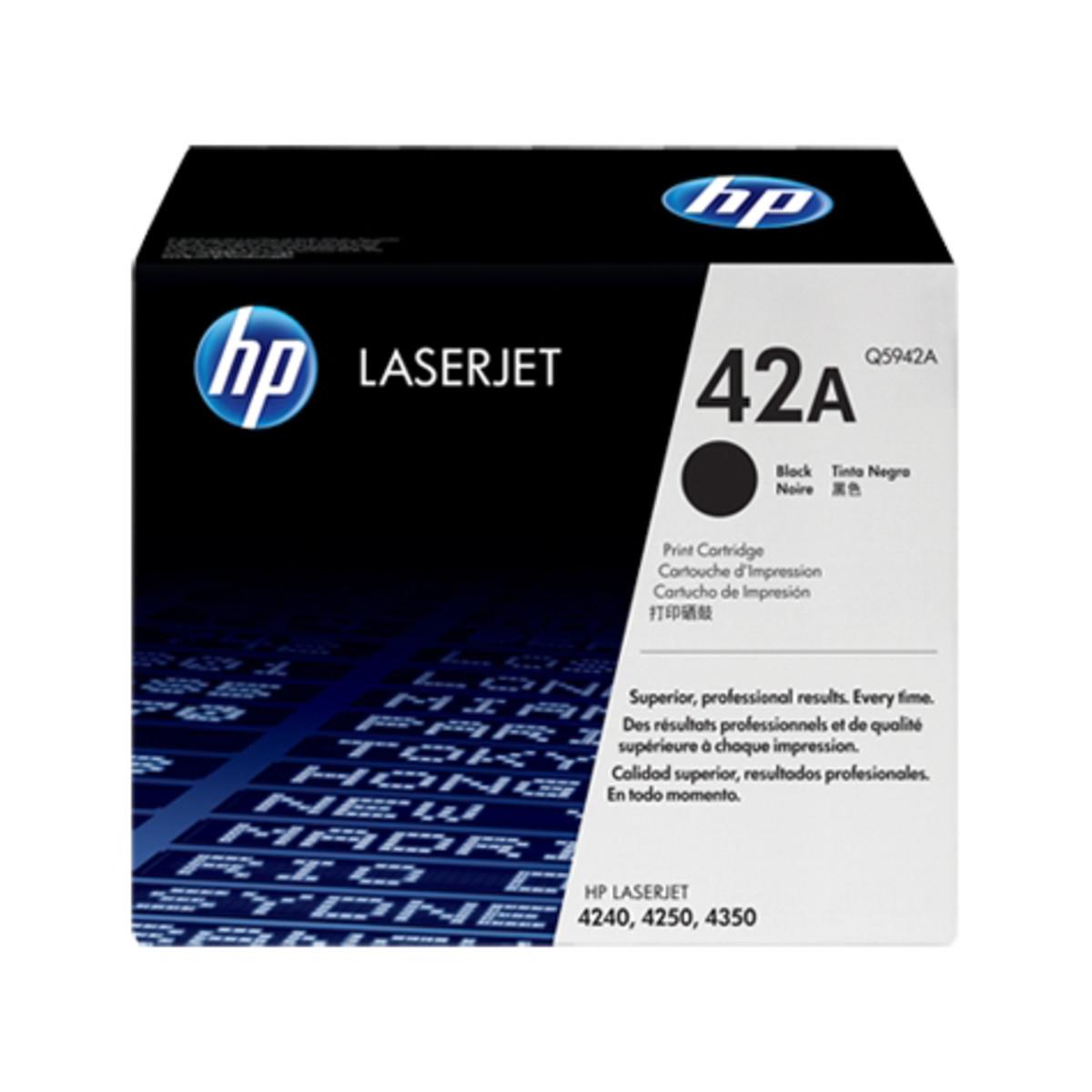 HP 42A (Q5942A) Black Toner Cartridge