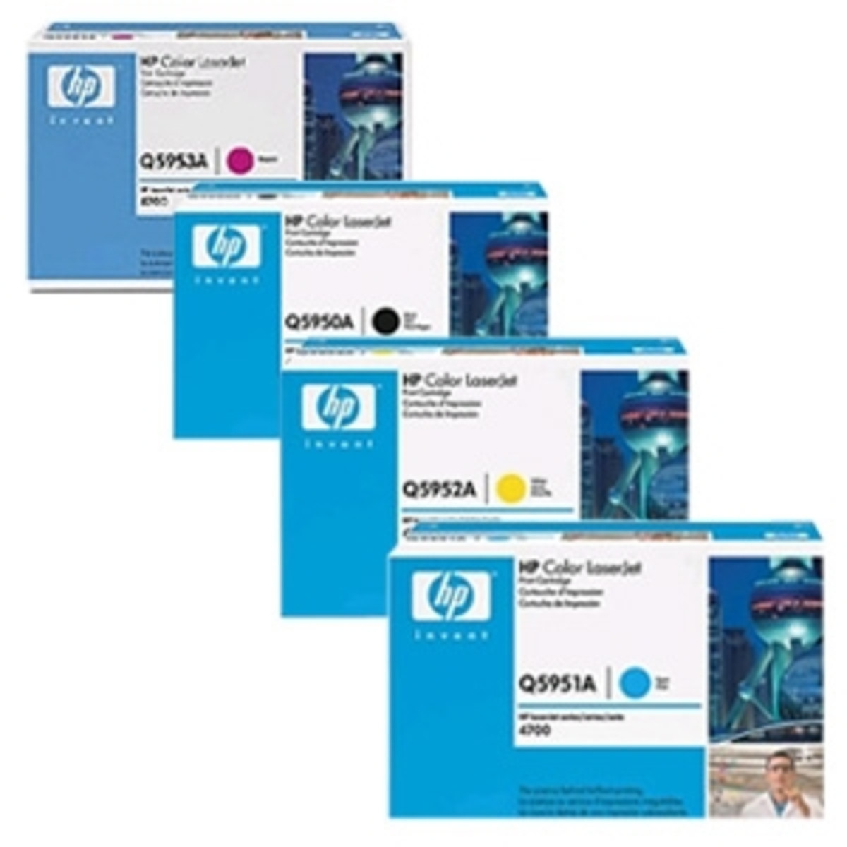 HP 643 (Q5950A) Toner Colour Bundle Pack