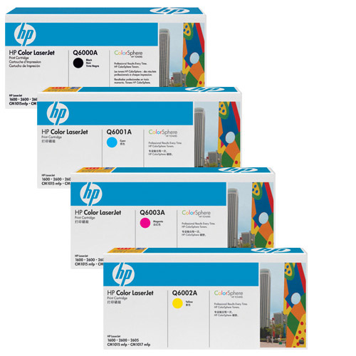 HP 124A Toner Cartridges Value Pack - Includes: [1 x Black, Cyan, Magenta, Yellow]