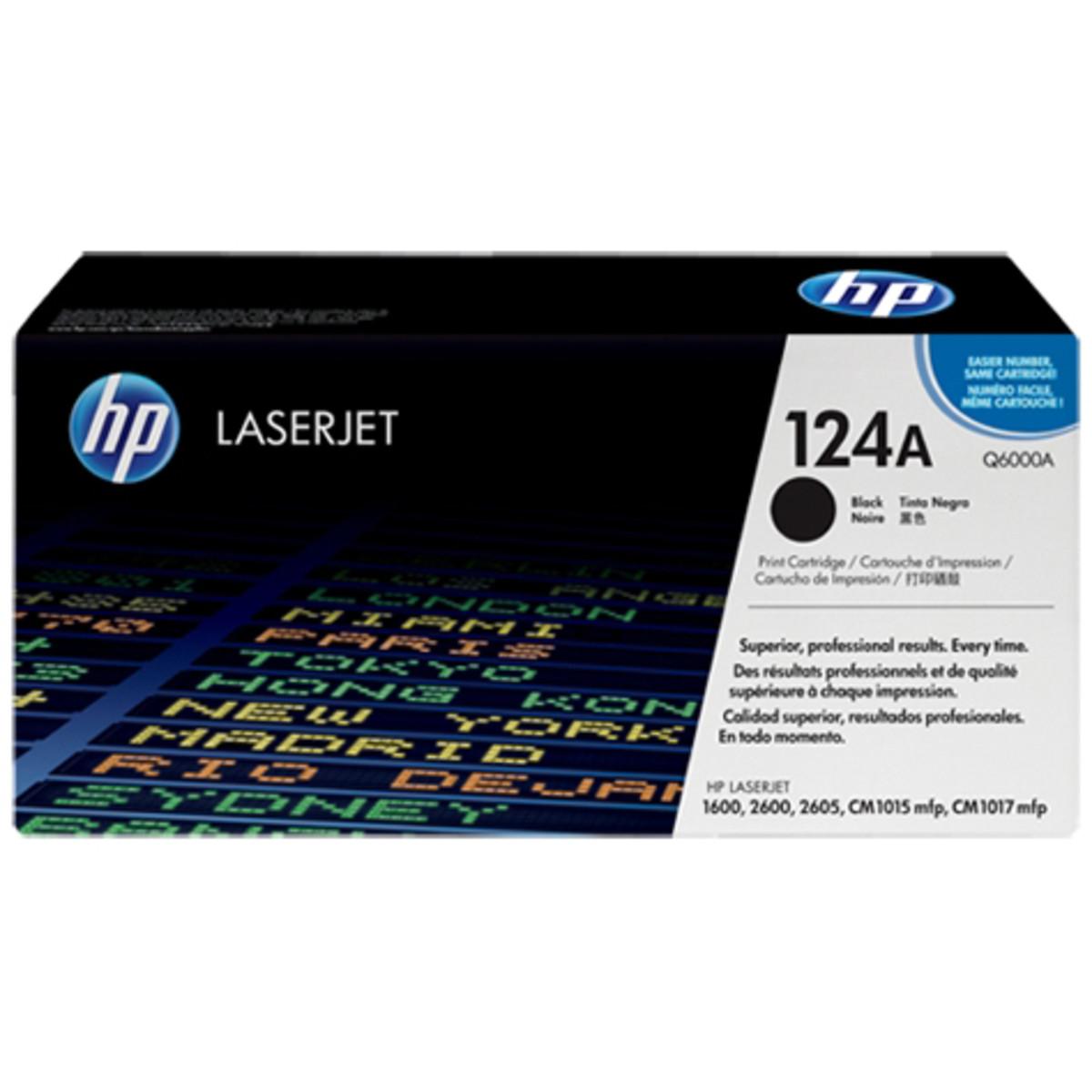 HP 124A (Q6000A) Black Toner Cartridge