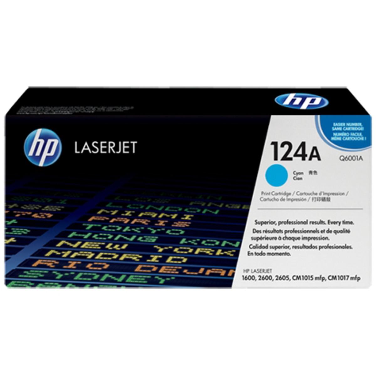 HP 124A (Q6001A) Cyan Toner Cartridge
