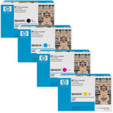 HP 644A Toner Cartridges Value Pack - Includes: [1 x Black, Cyan, Magenta, Yellow]