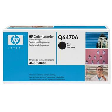 HP 501A (Q6470A) Black Toner Cartridge