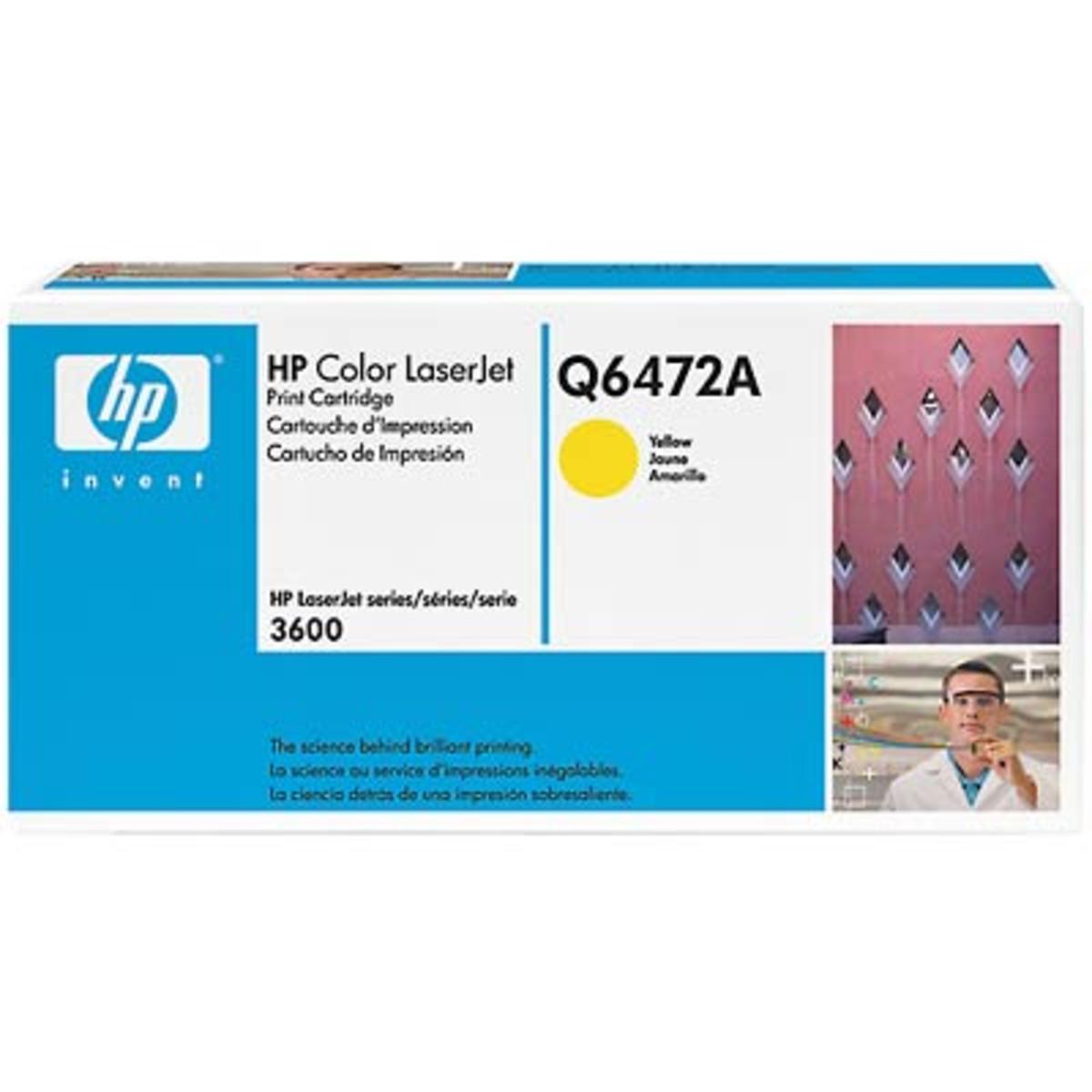 HP 502A (Q6472A) Yellow Toner Cartridge