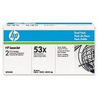 HP 53XD (Q7553XD) Black Toner Cartridges - Twin Pack
