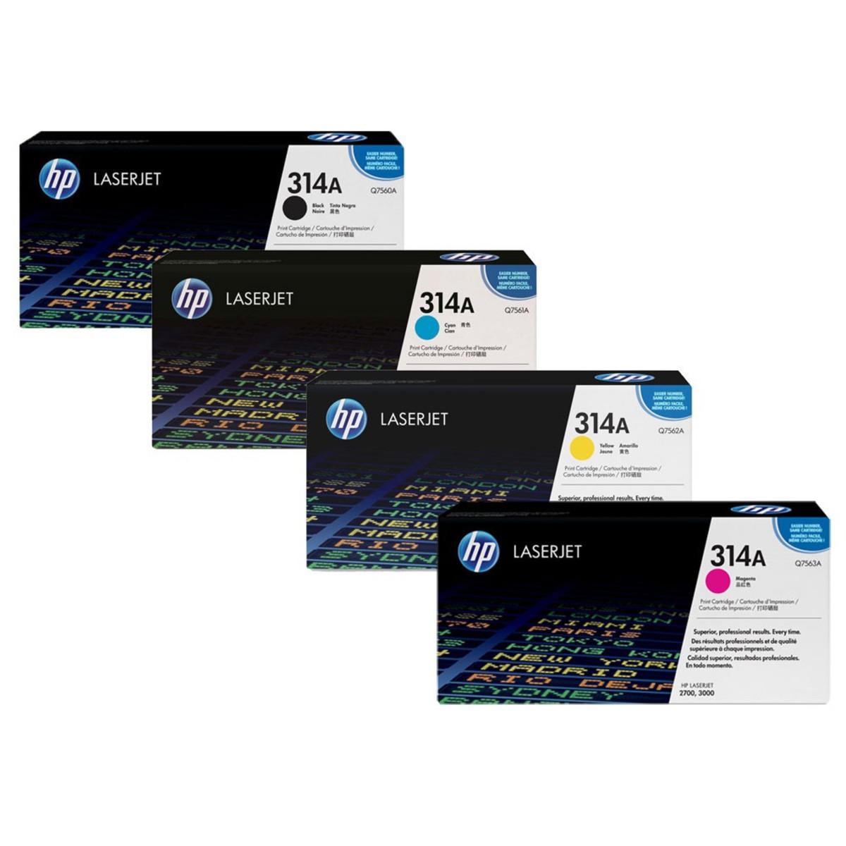 HP 314A (Q7560A) Toner Colour Bundle Pack