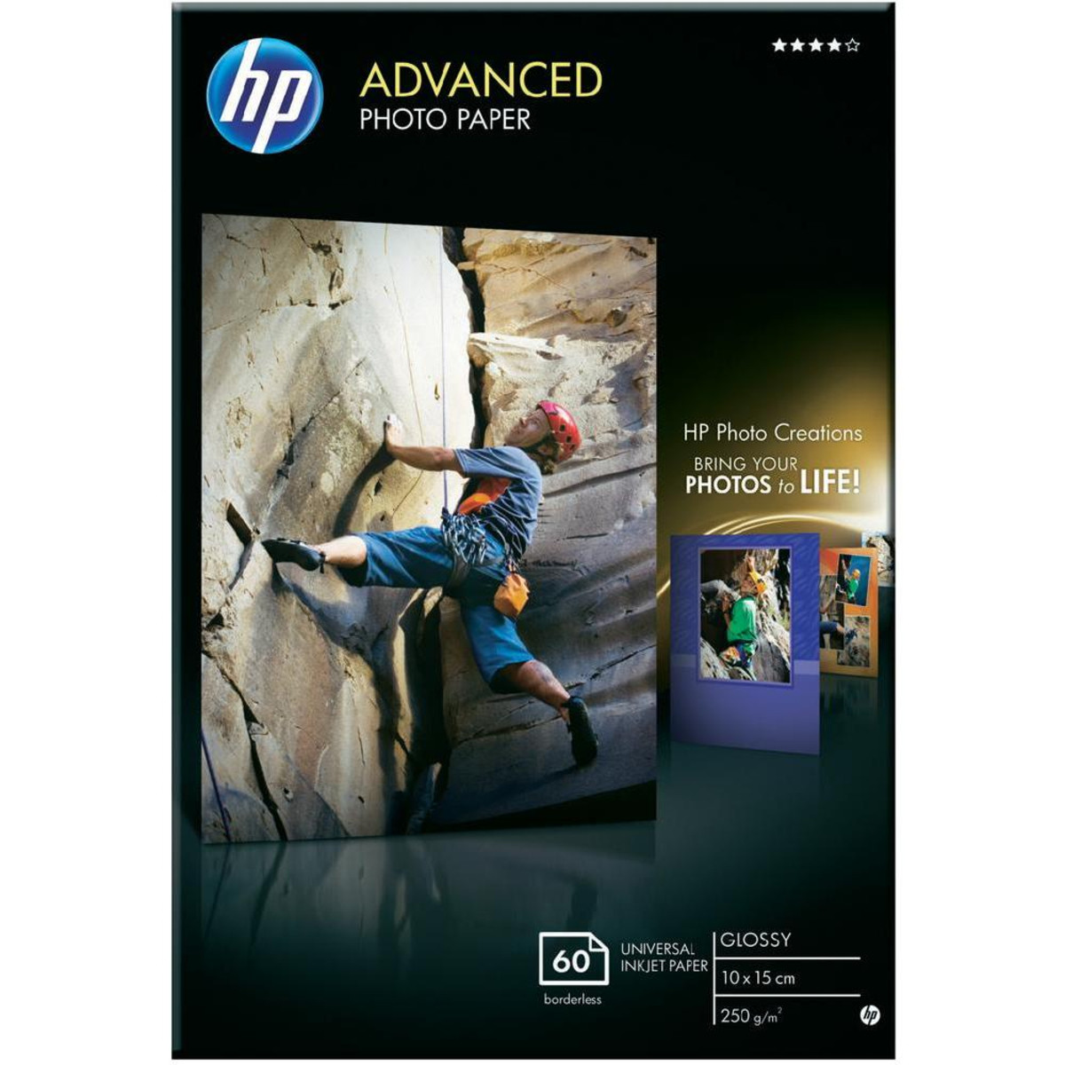 HP Advanced Gloss Photo Paper 60 Sheets A6