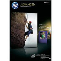 HP Advanced Gloss Photo Paper 25 Sheets A6