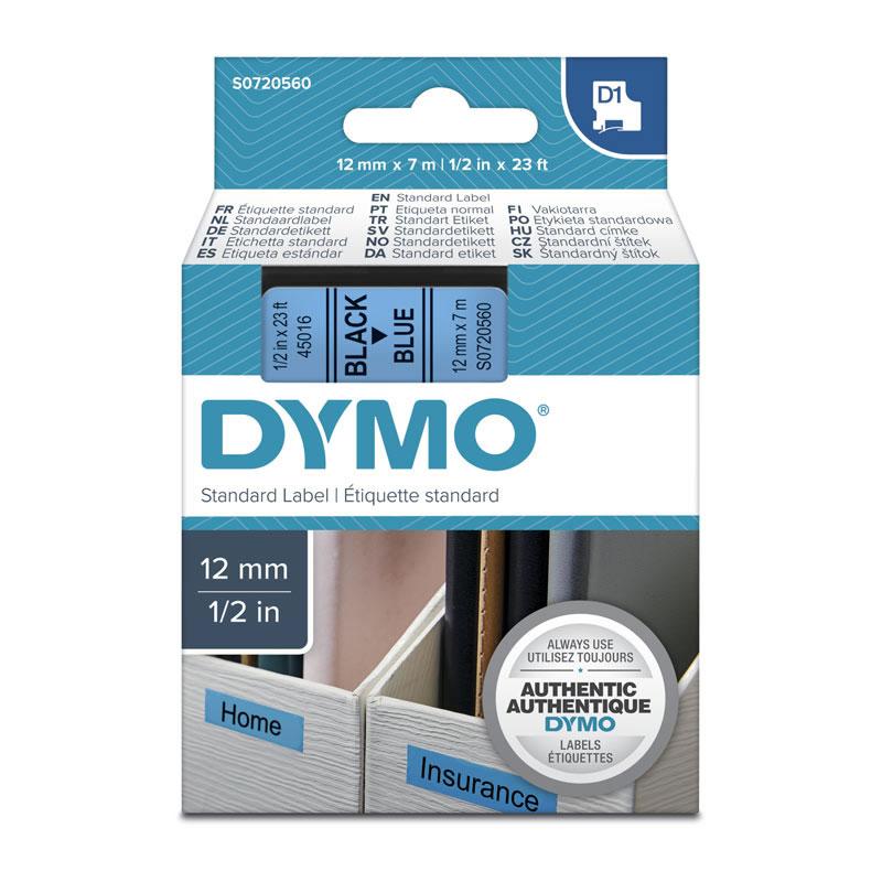 Dymo Black on Blue 12mmx7m Tape