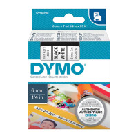 Dymo D1 Black on White 6mm x7m Tape