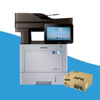 Samsung SL-M4580FX Mono Laser Printer + MLT-D201L Black Toner Cartridge