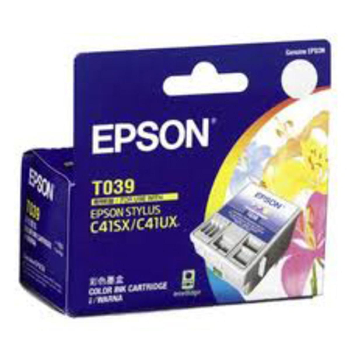 Epson T039090 Tri-Colour Ink Cartridge - Exp 2015